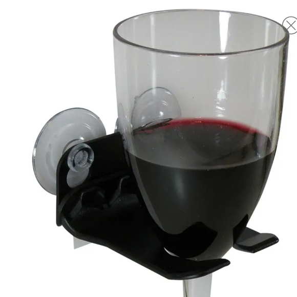 Wavehooks. Bathtub wine glass holder. New in box